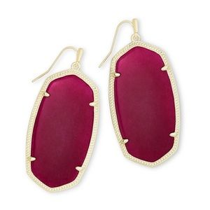 Kendra Scott Maroon Danielle Earrings